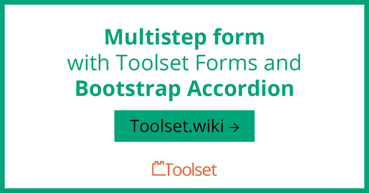 multistep form toolset